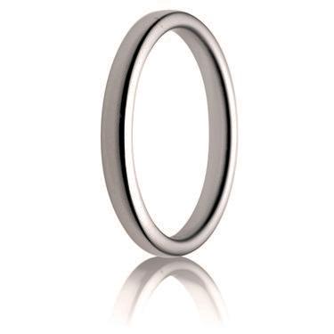 2.5mm Medium Weight Double Comfort Wedding Ring