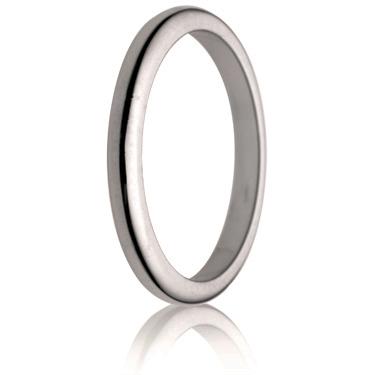 2.5mm Medium Weight D-Shape Wedding Ring