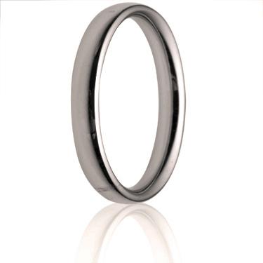 3mm Medium Weight Court Wedding Ring