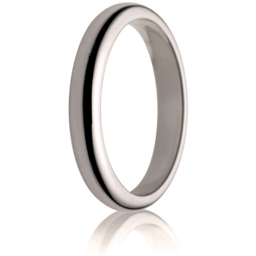 3mm Medium Weight D-Shape Wedding Ring