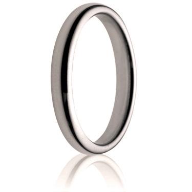 3mm Medium Weight Flat Sided Court Wedding Ring