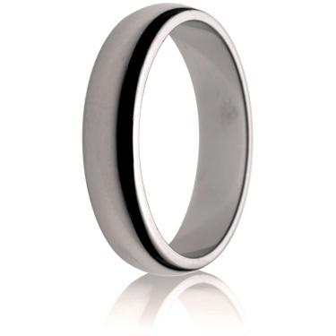 5mm Medium Weight D-Shape Wedding Ring