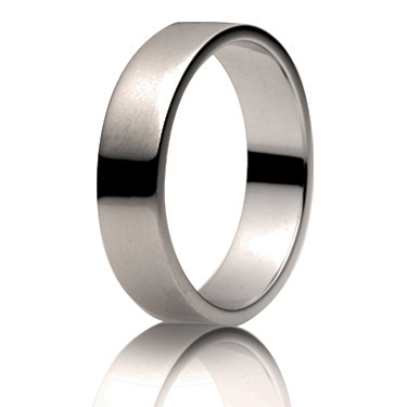 5mm Medium Weight Flat Wedding Ring