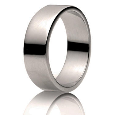 7mm Medium Weight Flat Wedding Ring