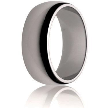 8mm Medium Weight D-Shape Wedding Ring