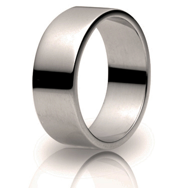 8mm Medium Weight Flat Wedding Ring