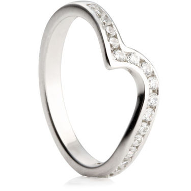20 Diamonds Set in a  Shaped Wedding Ring