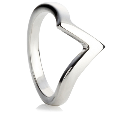 V-Shaped Wedding Ring