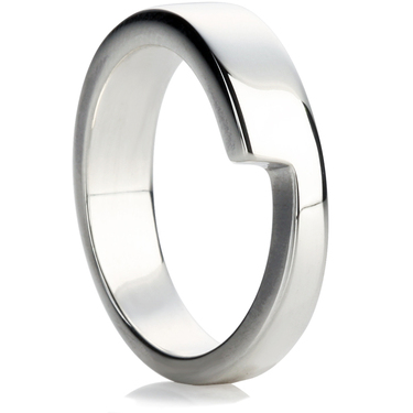 Stepped Shaped Wedding Ring