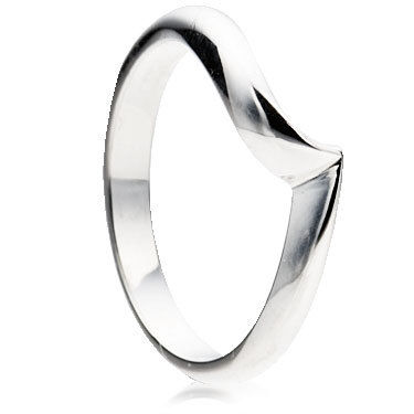 Wishbone Shaped Wedding Ring.