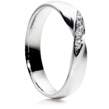 Twist Diamond Wedding Ring.