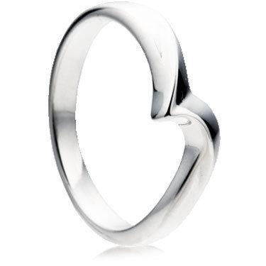 Wishbone Shaped Wedding Ring