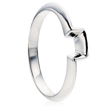Square Bend Shaped Wedding Ring