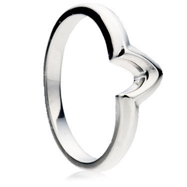 V Shape to fit wedding ring