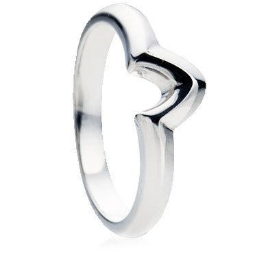 V Shaped Wedding Ring
