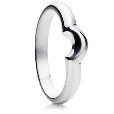 Shaped Single Curve Wedding Ring.