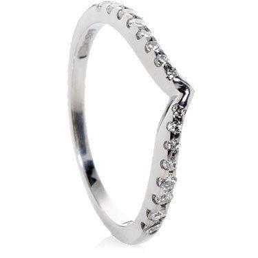 Wishbone Shaped Diamond Rings