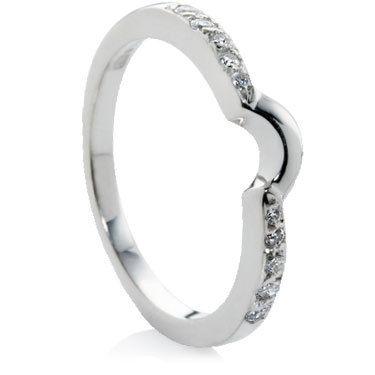 Shaped Diamond Set Wedding Rings