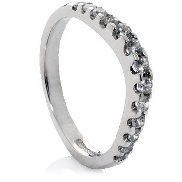 Shaped Diamond Wedding Rings