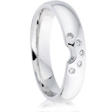 Shaped to Fit Diamond Set Wedding Band