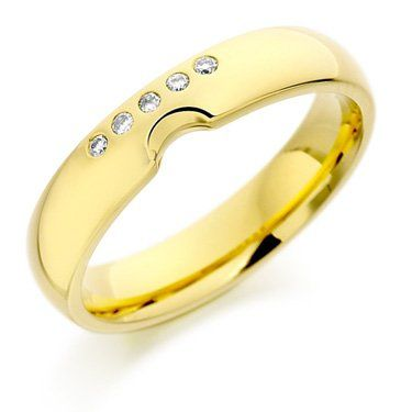 Shaped to Fit Diamond Set Wedding Band