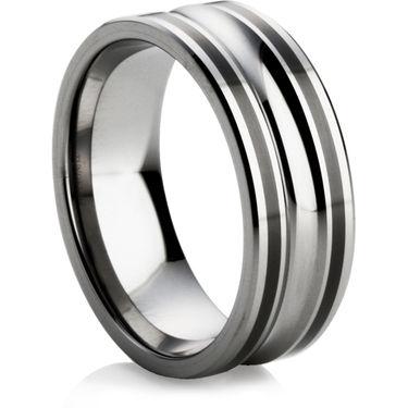 Tungsten Ring with Black Ceramic