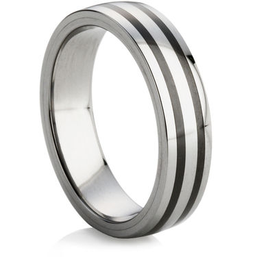 Court Profiled Tungsten Carbide Wedding Ring