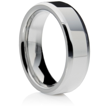 Flat Court Tungsten Carbide Ring