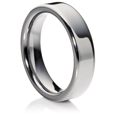 Flat Court Tungsten Carbide Ring