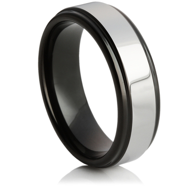 Tungsten Carbide Ring With Black-IP Plating