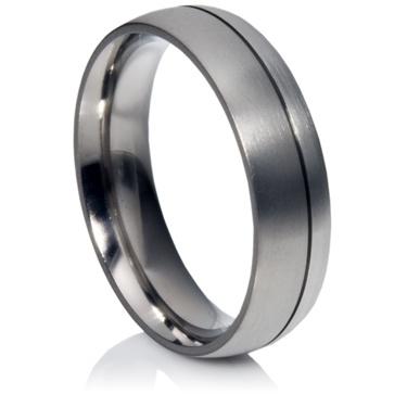 Titanium and Platinum Ring