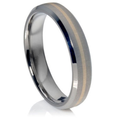 Titanium Ring with 14ct Yellow Gold