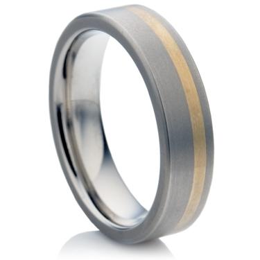 Titanium Ring with Gold
