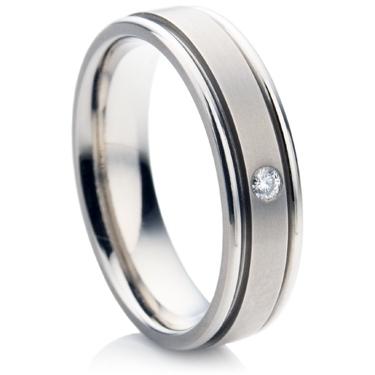 Diamond Titanium ring