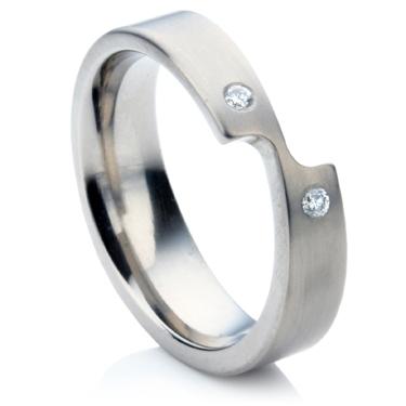 Titanium Shaped Ring