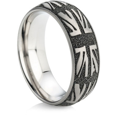 Titanium Ring with Laser Engraving