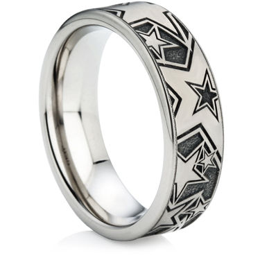 Titanium Ring with Laser Engraving