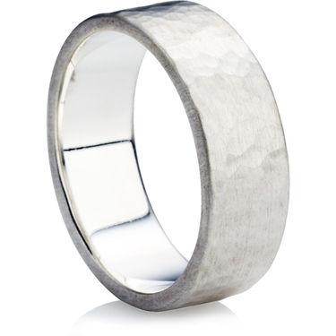 Hammered Finish Wedding Ring