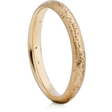 Yellow Gold Sandcast Wedding Ring