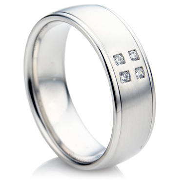Brilliant Cut Diamond Set Wedding Ring in White Gold