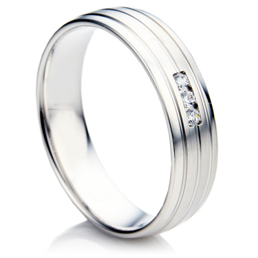 Double Comfort Diamond Wedding Ring Set