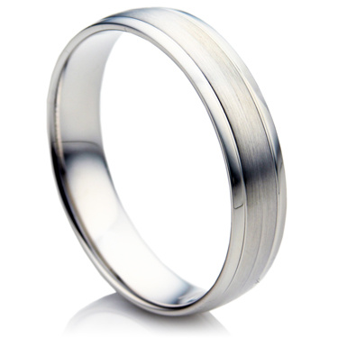 Double Comfort White Gold Matching Wedding Rings