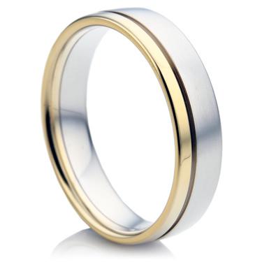 Double Comfort Bi-Metal Men's Wedding Ring
