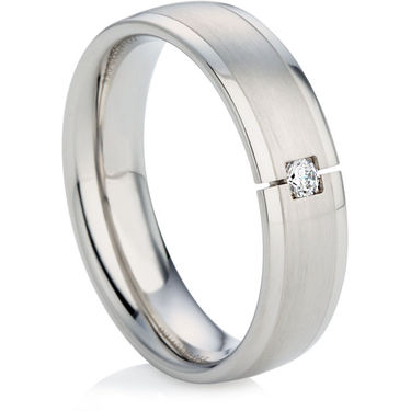 Diamond Wedding Ring with a Decorative Finish