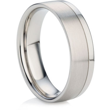 Men's Wedding Ring with a Decorative Finish