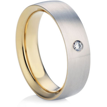 Bi-Colour Gents Wedding Ring