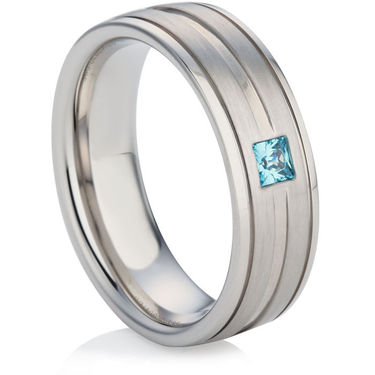 Diamond Set Wedding Ring in White Gold