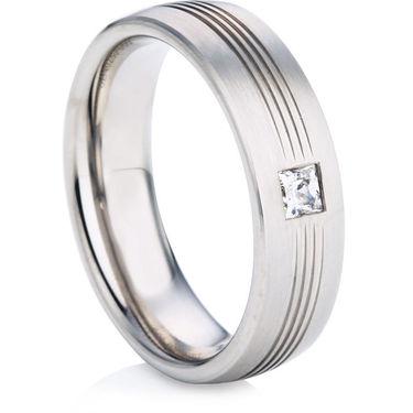 Diamond Set Wedding Ring in White Gold
