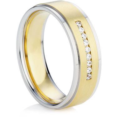 Yellow and White Gold Diamond Wedding Ring