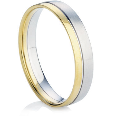 Two Colour Decorative Wedding Ring